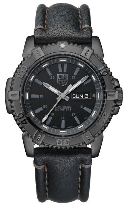 Luminox 6501.BO Mens Modern Mariner Automatic Leather Watch