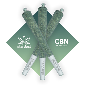 This is a photos of three 1.5 gram pre rolled Northern Lights Hemp CBD Flower infused with 100 mg of CBN isolate (cannabinol) grown in a light assisted green house packed with cannabinoids and terpenes to give it that beautiful look, smell, and taste just like the original but with a unique punch that only CBN can deliver! - thehemphaus
