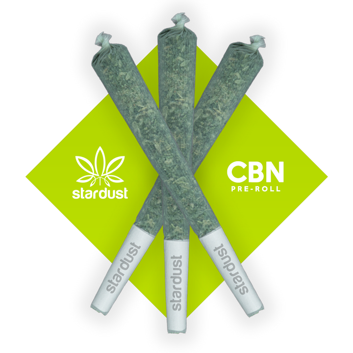 This is a photo of three 1.5 gram Runtz Hemp CBD Flower pre roll infused with 100 mg of CBN Isolate (cannabinol).  Grown in a light assisted green house packed with cannabinoids and terpenes to give it that beautiful look, smell, and taste.  Just like the original but with a unique punch that only CBN can deliver! - thehemphaus