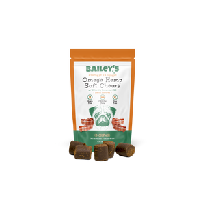 Bailey's Bacon Flavored Omega Hemp Soft Chews - 5 Count On-The-Go Pack w/ 3MG CBD Per Chew - thehemphaus