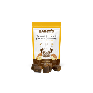 Bailey's Peanut Butter & Banana Yummies! 5 Count On-The-Go Pack w/ 3MG CBD Per Chew - thehemphaus