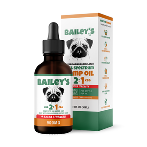 Bailey's Full Spectrum Hemp Oil For Dogs 2:1 w/ 900MG Naturally Occurring CBD & CBG (NEW!) - thehemphaus