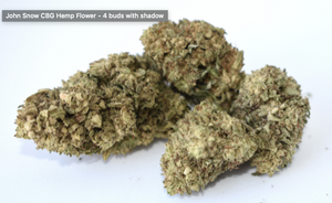 There is 4 buds of John Snow CBG Flower with a shadow grown in a light assisted green house. This CBD hemp flower is packed with cannabinoids and terpenes to give it that beautiful look, smell, and taste just like the original. - thehemphaus