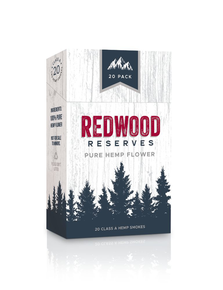 cured in Willamette Valley, Oregon with a soothing blend of Golden Redwood, Carolina Dream, and Wild Bourbon along with a broad terpene profile for more flavor and a heightOne box of 20 Redwood Reserves CBD hemp cigarettes are rolled with ONLY naturally grown CBD flower containing 0.8 grams of flower per CBD cigarette 80 – 100 mg of CBD per Hemp cigarette.  Derived from 100% CBD flower, sun grown & slowened experience. - thehemphaus