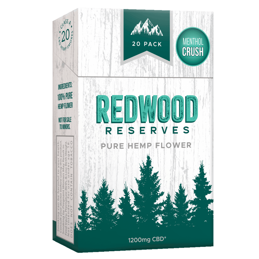 Redwood Reserves Menthol CBD Cigarettes - Free Shipping ( use code: SHIP ) - thehemphaus