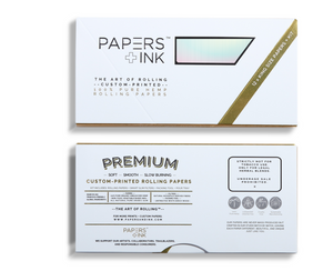 Papers + Ink Love Angeles- Pink Teal Rolling Papers Kit - thehemphaus