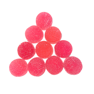 Image of ten 25 mg Stardust Hemp Red Delicious delta 8 THC gummy's. 250 mg total. Vegan. Gluten Free. $34.95   - thehemphaus