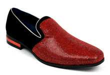 Load image into Gallery viewer, Men's Sparkling Glitter Party Shoes Red
