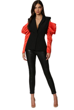 Load image into Gallery viewer, Roxy Satin Contrast Blazer