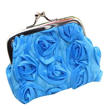 Load image into Gallery viewer, Fashion coin purse Womens lovely Rose Flower Small