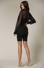 Load image into Gallery viewer, Leanne Chiffon Blazer Featuring a Notched Lapel Collar