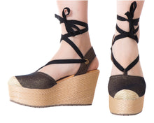 Load image into Gallery viewer, Espadrille Sandals Silvia Cobos Black