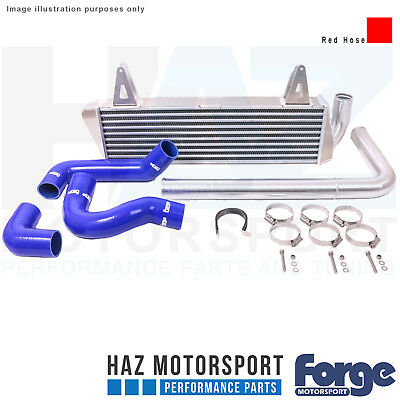 Forge Intercooler + Red Hoses For Renault Clio RS 1.6 200 Turbo/Clio 220 Trophy