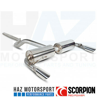 Scorpion Exhausts Non Res Cat Back System Renault Clio MK3 197 Slash Cut Tip