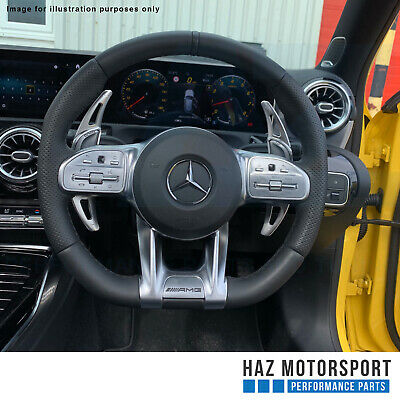 Aluminium Paddle Shift Gear Extensions Shifters Mercedes A35 AMG 4-Matic Silver - HAZ MOTORSPORT