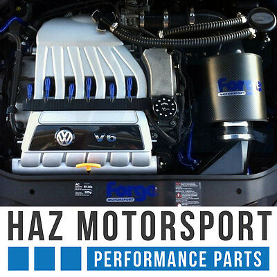 VW Golf Mk5 R32 3.2 V6 Forge Motorsport Induction Intake Air Filter Kit BLUE