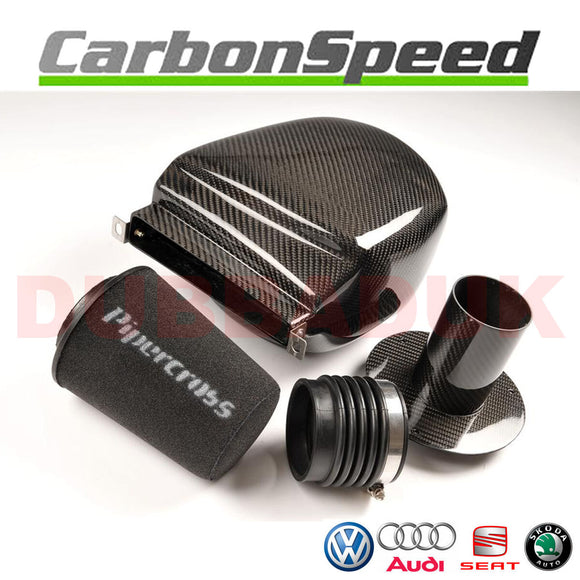 VW GOLF MK6 2.0 GTI CARBON AIR BOX INDUCTION INTAKE KIT + PIPERCROSS FILTER