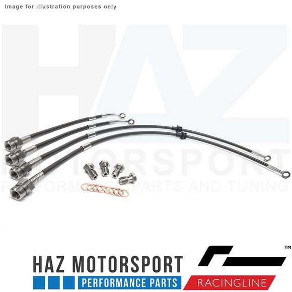 Racingline Performance Front Rear Braided Hoses/Brake Line Kit VWR Racing