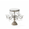 antique silver  multi tier chandelier dessert stand by opulent treasures