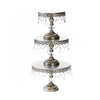antique silver cake stand set of 3 sizes