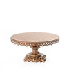 antique gold baroque style metal cake stand
