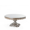 antique silver baroque style metal cake stand