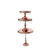 rose gold round cake stand set of 3 sizes