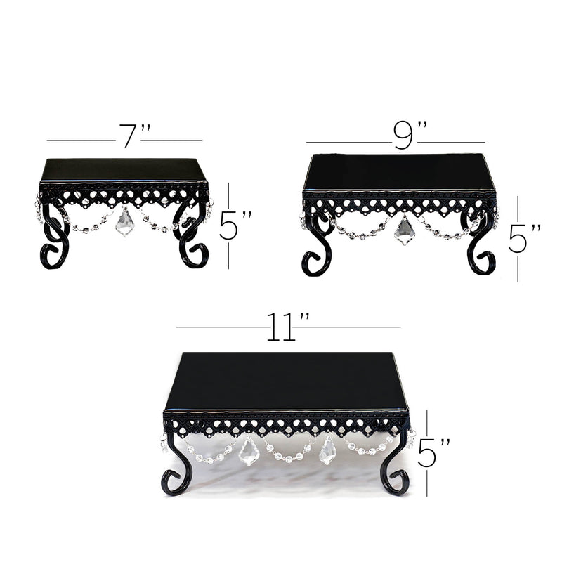Chandelier Square Loopy Cake Stand Set