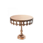gold crown metal cake stand with pedestal base