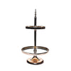 elegant metallic gold 2 tier dessert stand with mirror serving plates for dessert tables