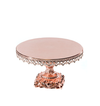 rose gold baroque style metal cake stand