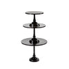 black metal modern cake stand set