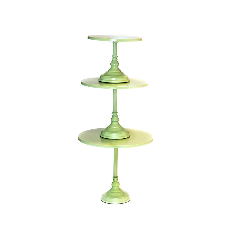 lime green colorful modern simple metal cake stand set