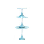 baby light blue metal modern round cake stand set