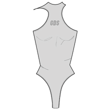"Load image into Gallery viewer, ""ICE"" GREY RACERBACK BODYSUIT"