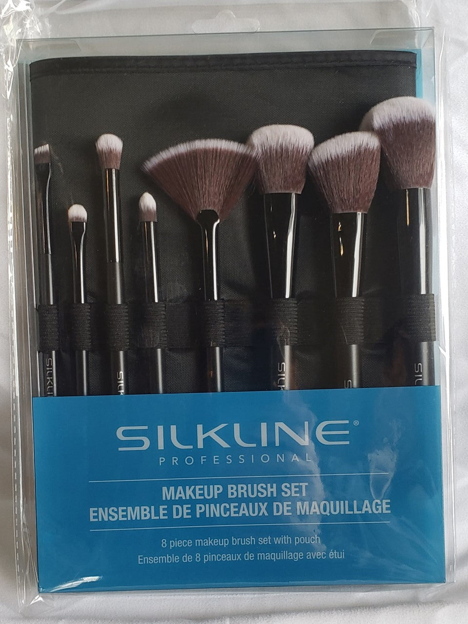 8 pc. Makeup Brush set with Case