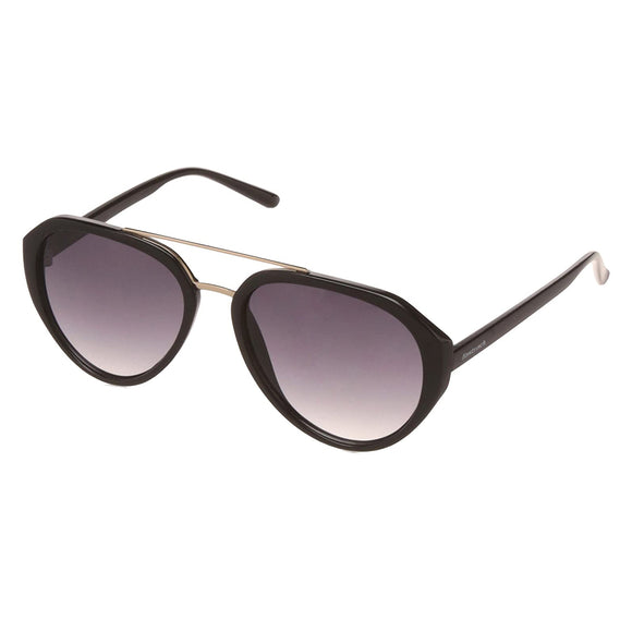 Fastrack C077BK1 Aviator Sunglasses Size - 55 Black / Grey