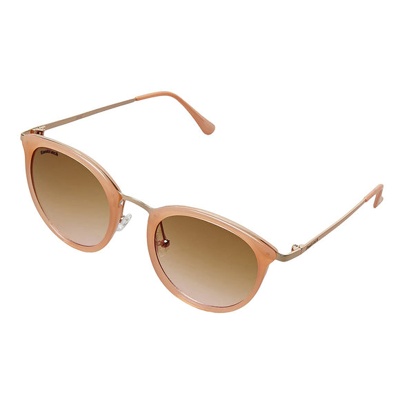 Fastrack C084PK2F Oval Sunglasses Size - 58 Pink / Brown