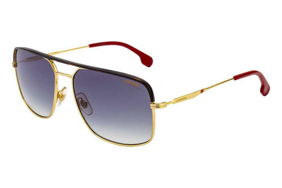 Carrera CA-152S-PEF-QT-60 Rectangle Sunglasses Size - 60 Gold / Blue Gradient