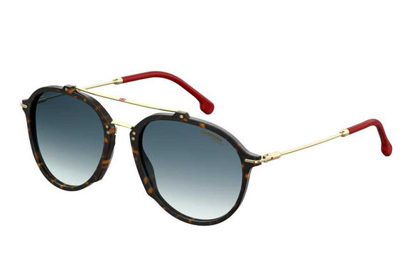 Carrera CA-171S-O63-08-55 Aviator Sunglasses Size - 55 Tortoise / Blue Gradient