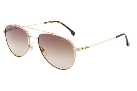 Carrera CA-187S-J5G-HA-58 Aviator Sunglasses Size - 58 Gold / Brown Gradient