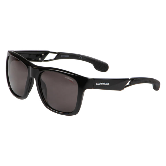 Carrera CA-4007S-807-M9-56 Square Polarized Sunglasses Size - 56 Black / Black