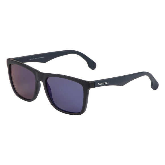 Carrera CA-5041S-RCT-XT-56 Square Sunglasses Size - 56 Black / Blue Mirrored