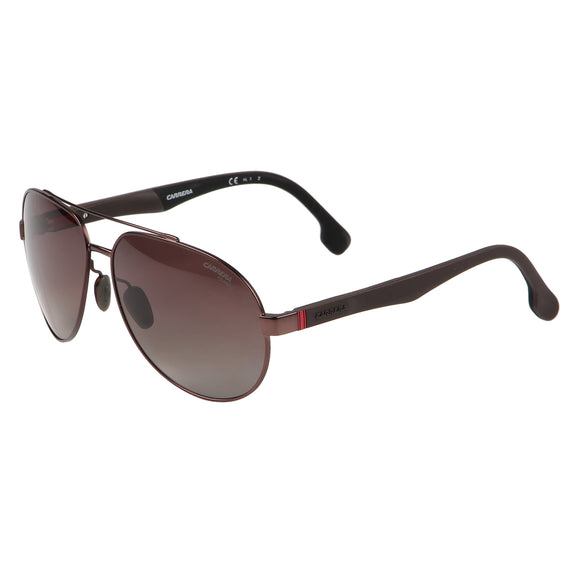 Carrera CA-8025S-YZ4-LA-63 Aviator Polarized Sunglasses Size - 63 Brown / Brown
