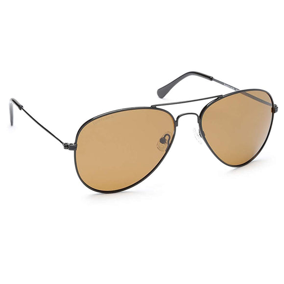 Fastrack M138BR6P Aviator Polarized Sunglasses Size - 58 Black / Brown