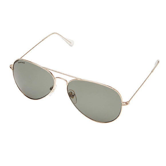 Fastrack M165GR1 Aviator Sunglasses Size - 57 Gold / Green