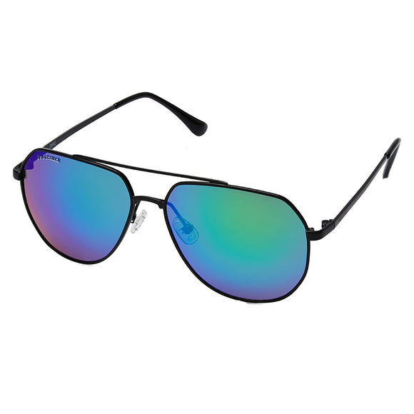 Fastrack M186BU1 Aviator Sunglasses Size - 58 Black / Blue
