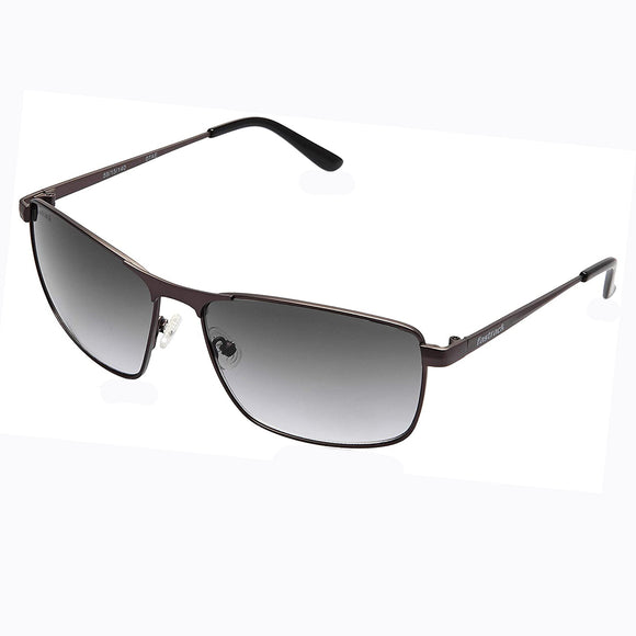 Fastrack M189BK2 Rectangle Sunglasses Size - 59 Gunmetal / Grey