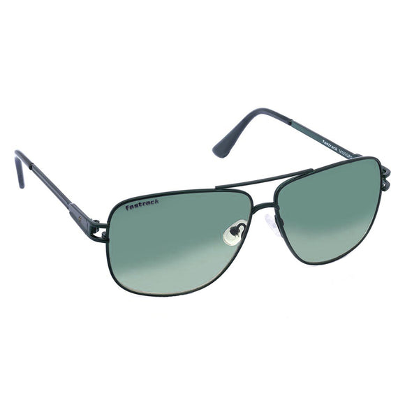 Fastrack M197GR2 Rectangle Sunglasses Size - 58 Green / Green