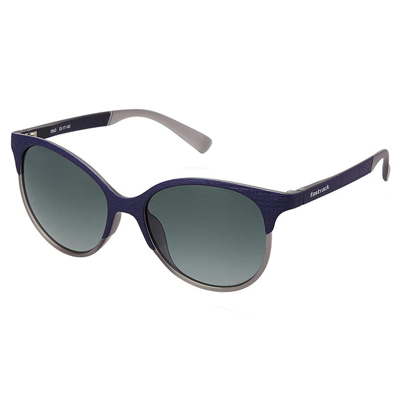Fastrack P335GR2F Oval Sunglasses Size - 53 Blue / Green